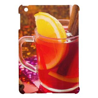 Transparent cup of tea with citrus, cinnamon iPad mini case