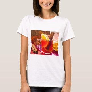 Transparent cup of tea with citrus, cinnamon T-Shirt