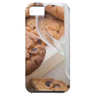 Transparent cup with milk and oatmeal cookies case for the iPhone 5