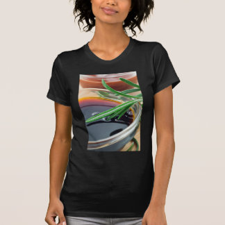 Transparent cup with soy sauce and rosemary leaves T-Shirt