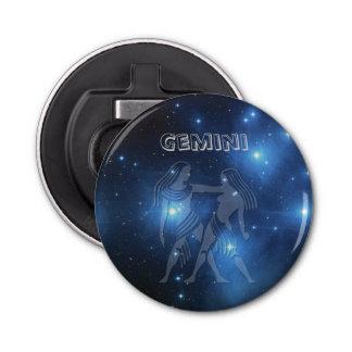 Transparent Gemini Button Bottle Opener