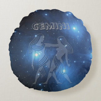 Transparent Gemini Round Pillow