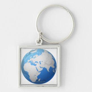 Transparent Globe 2 Keychain