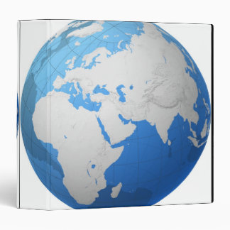 Transparent Globe 2 Vinyl Binder