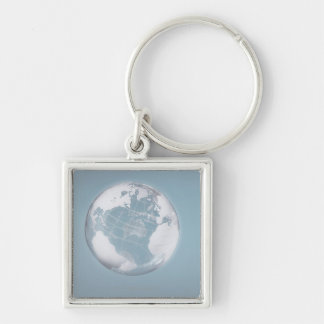 Transparent Globe 3 Keychain