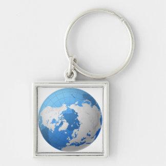 Transparent Globe Keychain