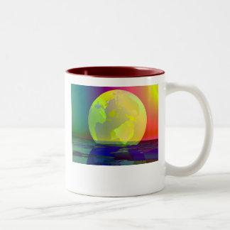 Transparent Globe Two-Tone Coffee Mug