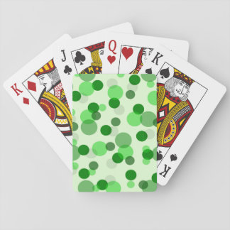 Transparent Green Dots Pattern Playing Cards