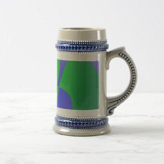 Transparent Green on Lavender Background Mug