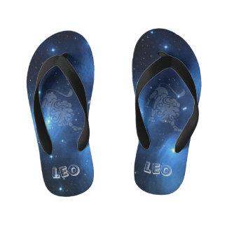 Transparent Leo Kid's Flip Flops