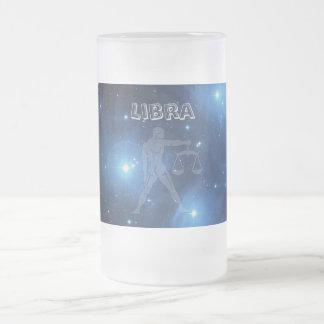 Transparent Libra Frosted Glass Beer Mug