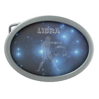 Transparent Libra Oval Belt Buckle