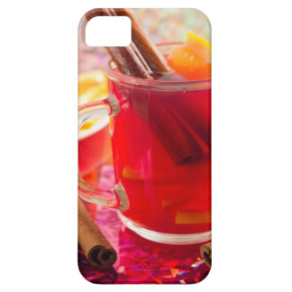 Transparent mug with citrus mulled wine, cinnamon iPhone 5 covers
