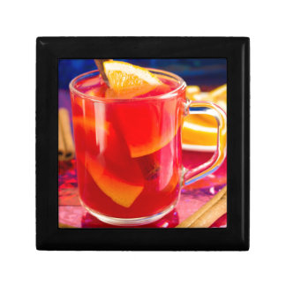 Transparent mug with citrus mulled wine gift box