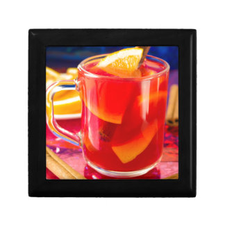 Transparent mug with citrus mulled wine gift box