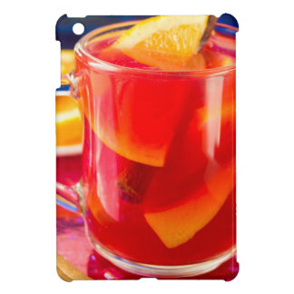 Transparent mug with citrus mulled wine iPad mini case