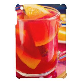 Transparent mug with citrus mulled wine iPad mini case