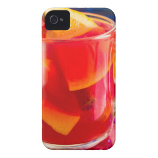 Transparent mug with citrus mulled wine iPhone 4 cases