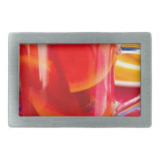 Transparent mug with citrus mulled wine rectangular belt buckle