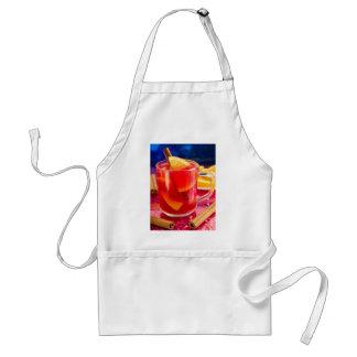 Transparent mug with citrus mulled wine standard apron