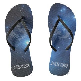 Transparent Pisces Flip Flops