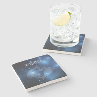 Transparent Pisces Stone Coaster