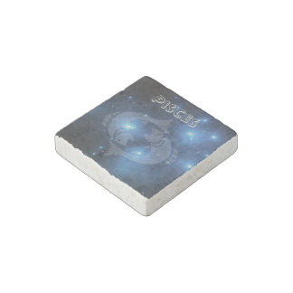 Transparent Pisces Stone Magnets