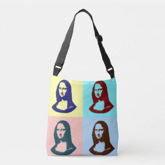 Transparent Pop Art Mona Lisa or La Gioconda Crossbody Bag