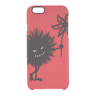 Transparent Red Evil Bug Gives Flower Clear iPhone 6/6S Case