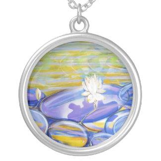 Transparent Round Pendant Necklace