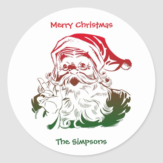 Transparent Santa Christmas Envelope Sticker