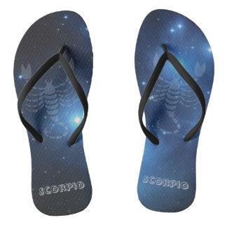 Transparent Scorpio Flip Flops