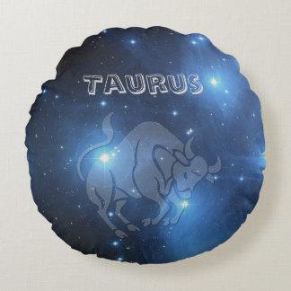 Transparent Taurus Round Pillow