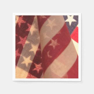 Transparent U.S. flags Paper Napkin
