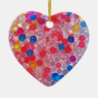 transparent water balls ceramic heart ornament