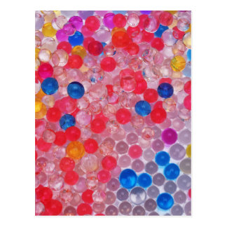 transparent water balls postcard