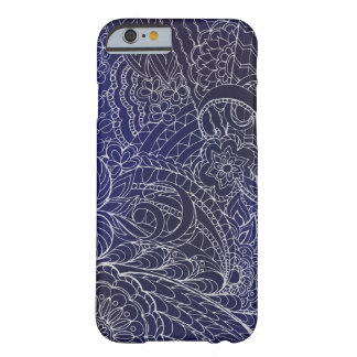 transparent white blue zen pattern dark gradient barely there iPhone 6 case