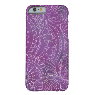 transparent white zen pattern dark violet gradient barely there iPhone 6 case