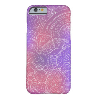 transparent white zen pattern violet gradient barely there iPhone 6 case