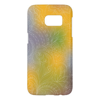 transparent white zen pattern yellow gradient samsung galaxy s7 case