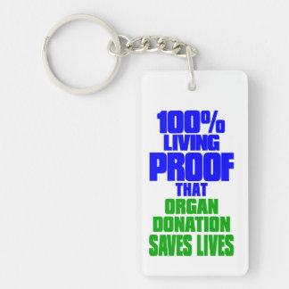 Transplant Survivor, Living Proof Keychain