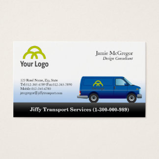 Van Delivery Service Business Cards and Business Card