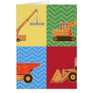 Transportation Heavy Equipment - Collage Greeting Cards