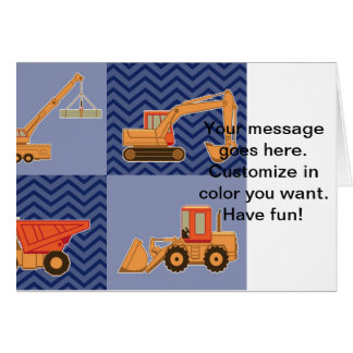 Transportation Heavy Equipment – Collage Greeting Card