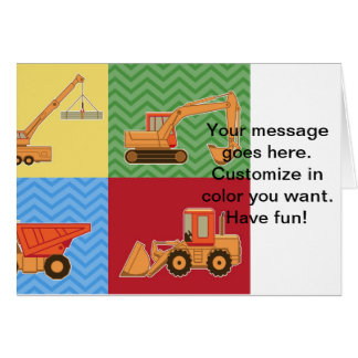 Transportation Heavy Equipment - Collage Greeting Card