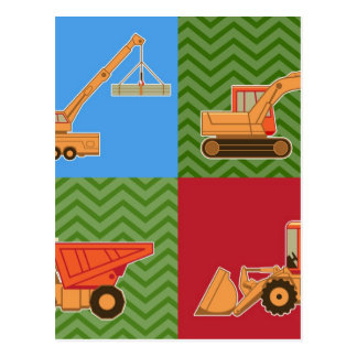 Transportation Heavy Equipment - Collage Postcard