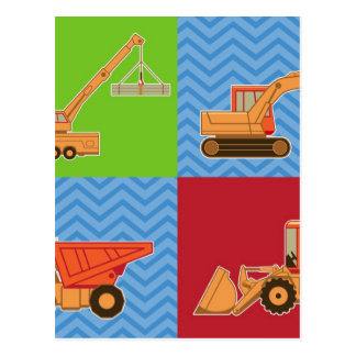 Transportation Heavy Equipment – Collage Post Card