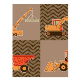 Transportation Heavy Equipment – Collage Postcard