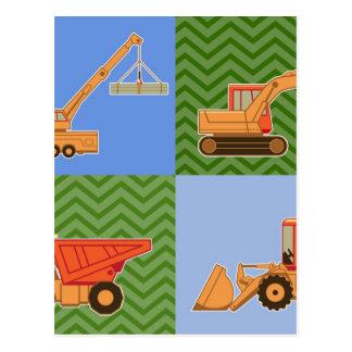 Transportation Heavy Equipment - Collage Postcards