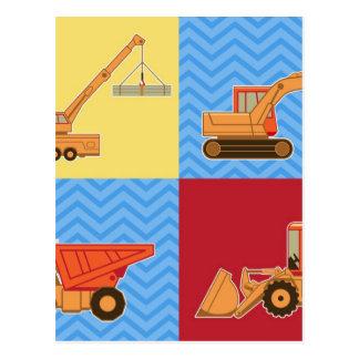 Transportation Heavy Equipment – Collage Postcards
